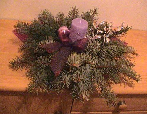 Mein Kleines Lilagehaltenes Weihnachtsgesteck F R Unsere